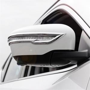 Image 1 - Cubierta embellecedora de retrovisor para Nissan x trail Rogue T32 2014 2015 2016, pegatina de espejo trasero para Nissan Qashqai J11 x trail T32 2017 2018