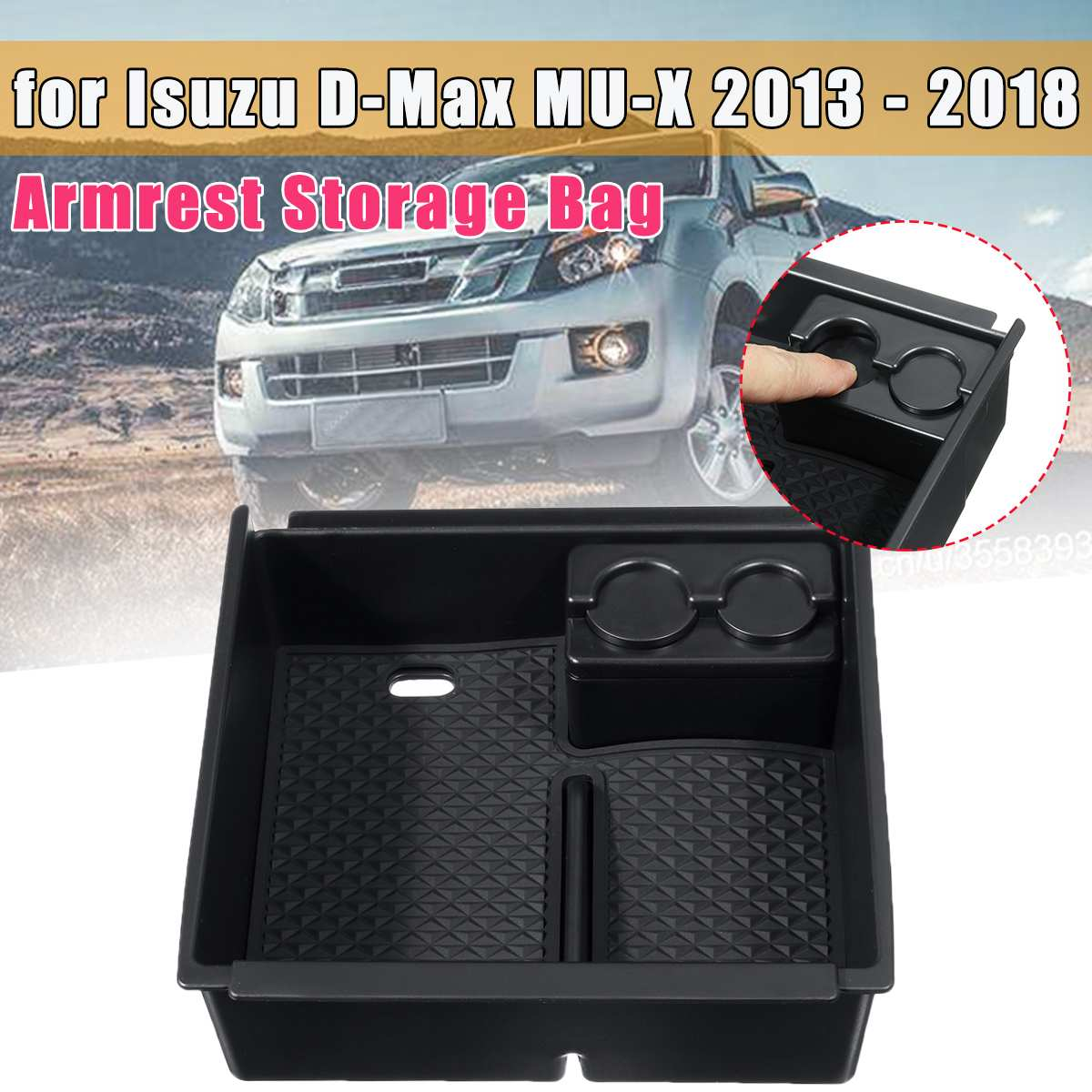 For Isuzu D-Max MU-X 2013 2014 2015 2016 2017 2018 Central Armrest Storage Box Holder Tray Organizer Interior Accessories