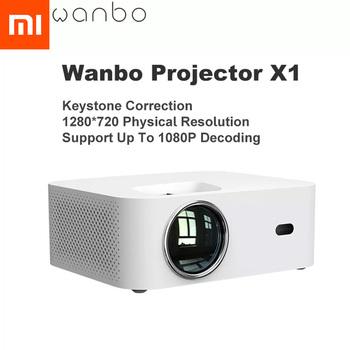 Globalna wersja Xiaomi Wanbo X1 projektor OSD bezprzewodowa projekcja LED przenośny projektor korekcja Keystone dla domowego biura tanie i dobre opinie NONE CN (pochodzenie) Wanbo X1 Projector OSD Wtyczka amerykańska Gotowa do działania