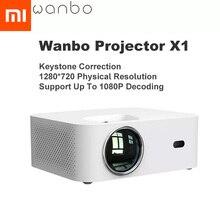 النسخة العالمية شاومي Wanbo X1 العارض OSD اللاسلكية الإسقاط LED المحمولة العارض تصحيح حجر الزاوية للمنزل مكتب