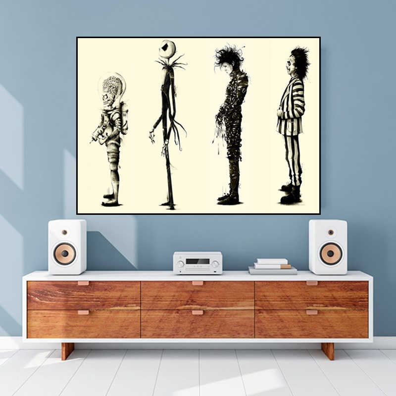 Tim Burton Movie Edward Scissorhands Movie Poster HD Print Poster Wall Art Great Pictures On The Wall For Gift No frame