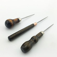 3pcs/set Awl tools leather punch tool wooden handle sewing accessories for needlework leatchercraft stitching