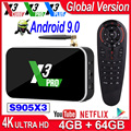X3 Pro X3 Cube Smart Android tv BOX Android 9,0 S905X3 Smart tv Box X3 Plus 4K Android BOX 4 Гб DDR4 64 Гб rom 2,4G/5G WiFi 1000M