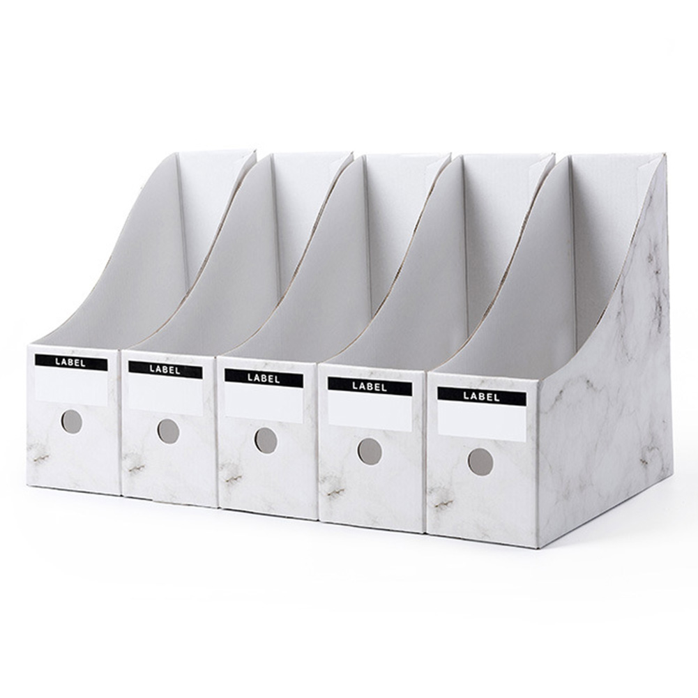 5PCS/Set Magazine School Storage Box Pencil Office Rack File Holder  Paper Paperwork Simple Stationery Desk Organiser
