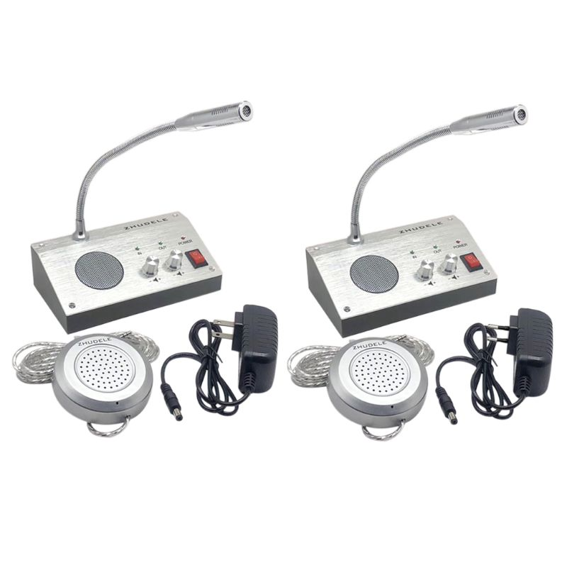 Dual Way Window Intercom System Bank Counter Interphone Zero-touch For Business Store Bank Station Ticket Window 9908
