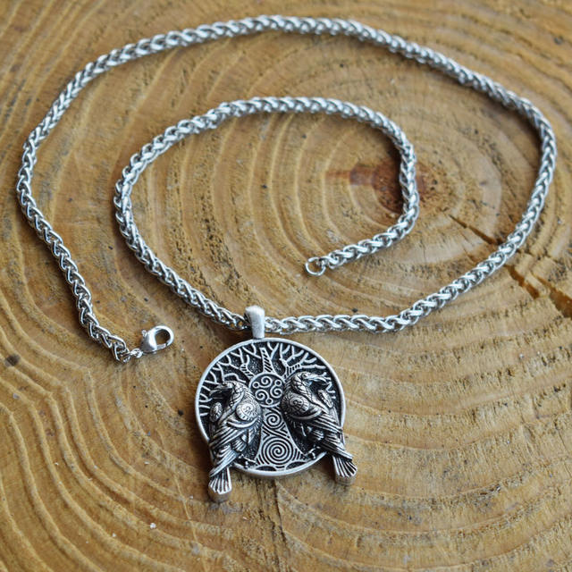 TREE OF LIFE COUPLE RAVEN NECKLACE