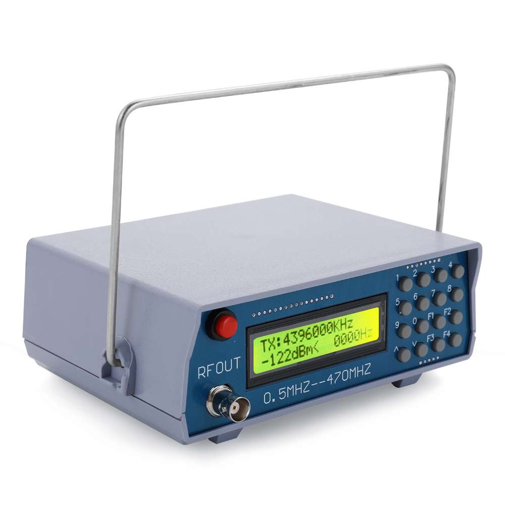 0.5MHz-470MHz RF Signal Generator High Accuracy Tester Analog Digital CTCSS Function For FM Radio Walkie-talkie Debugging