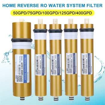 Membrana RO de Osmosis inversa 400GPD /125/100/75/50GPD, sistema de filtro de agua de reemplazo, tratamiento purificador de bebida, cocina de casa