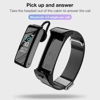 Wireless Bluetooth Smart Watch for Women Men Heart Rate Health Monitoring Step Counter Sport Bracelet Watch with Headset