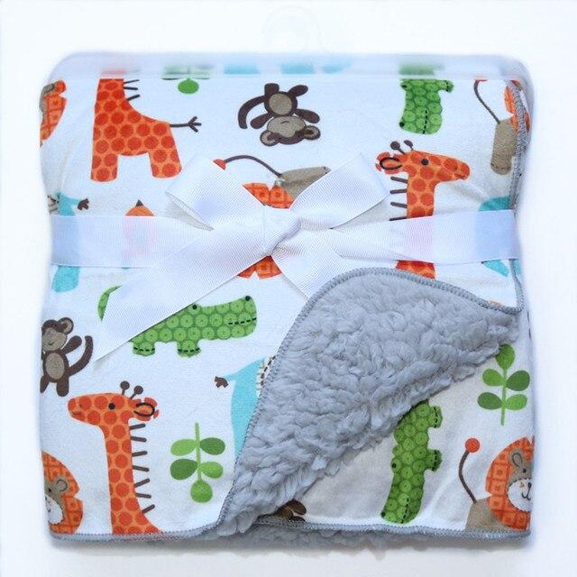 Fleece Double Layer Baby Blanket 6
