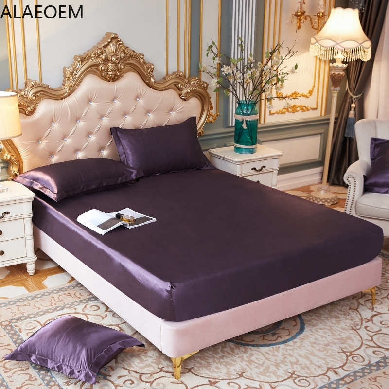 Bed Linens Elastic Fitted Sheet Home Mattress Bed Cover Queen Double Full King Size No Pillowcase 150X200 180X200CM Bedspread