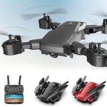 F85 RC Drone WIFI FPV 4K HD szerokokątny aparat podwójny aparat zdalnie sterowany Quadcopter składany przenośny WiFi drony czerwony i czarny RC Drone cheap willkey 4 k hd nagrywania wideo Aparat nie wliczone Brak 80-100m 6 axes 4 kanały 2 4G S14260455 Pilot zdalnego sterowania