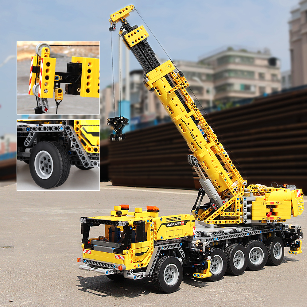 IN STOCK 20004 2606Pcs Ideas Technic Series Motor Power Mobile Crane Mk II Building Blocks Bricks Kids Toys Christmas gift 42009 1