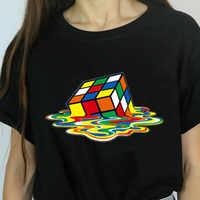 The Big Bang Theory Cube Graphic Tee Shirt for Women,Femme Funny Harajuku T Shirt Korean Tops Kawaii Streetwear Gift