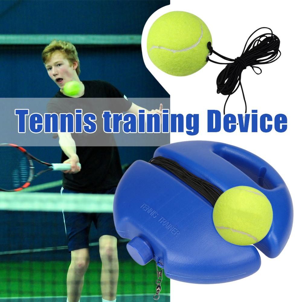 Rebound Heavy Duty Tennis Training Tool Exercise Single Tennis Trainer Base + Rubber Band Ball Suit