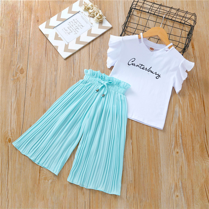 Vgiee Kids Girls Clothes Girl Summer Set T Shirt And Pant 2020 Fashion Newest Style Outfits Casual Shorts 2pc Baby Clothing