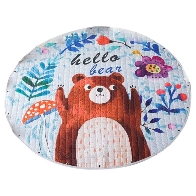 Kids Play Rug Cute Cartoon Bear Rug Backing Great For Nursery Baby,Parfect Gift For Kids Bedroom Play Room Classroom