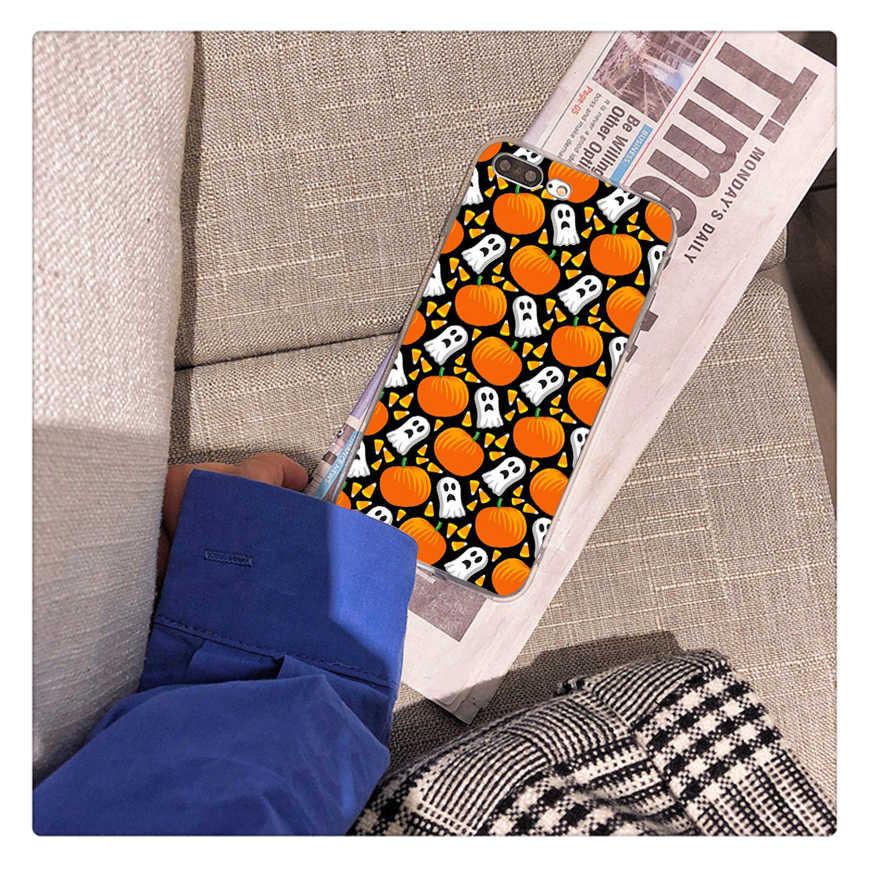 MaiYaca Bí Ngô Halloween Bát Phù Thủy Boo Coque Vỏ Ốp Lưng Điện Thoại cho iPhone 8 7 11 Pro Max 6 6S plus X XS MAX 5 5S SE XR