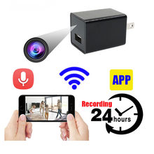 JOZUZE Mini Camera WiFi Smart Wireless Camcorder DVR Security Usb Charger IP Hotspot HD Video Micro Small Cam Motion Detection