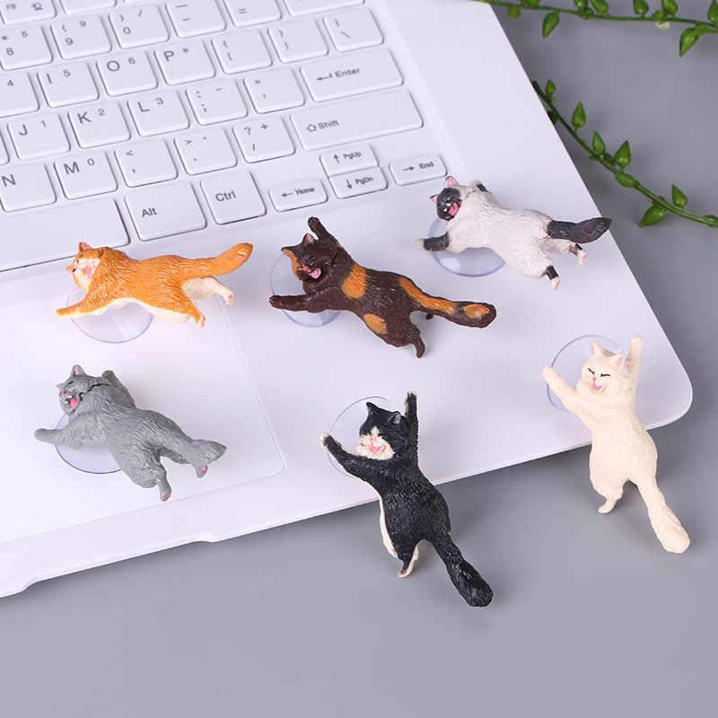 Telefon Halter Nette Katze Unterstützung Harz Handy Halter Stehen Sucker Tabletten Schreibtisch Sucker Design hohe qualität Smartphone Halter