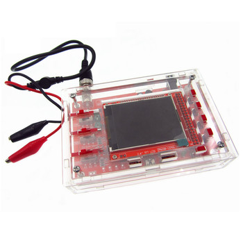 DSO138 2.4 TFT Handheld Pocket-size Digital Oscilloscope Kit DIY Parts + Acrylic Case Cover Shell for