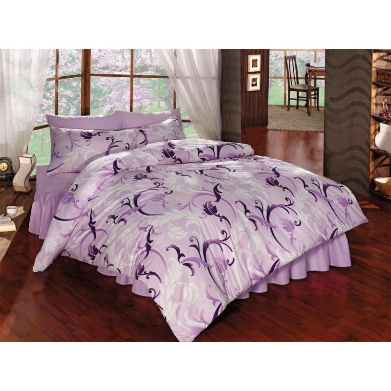 Bedding Set double-euro KARNA, RANFORCE, VICTORIA, lilac ranforce bedroom set cotton box ranforce bedroom set