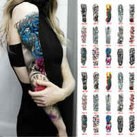 Personality Waterproof Full Arm Temporary Tattoo Stickers Fake Tattoo Sleeve Tattoos For Men Women