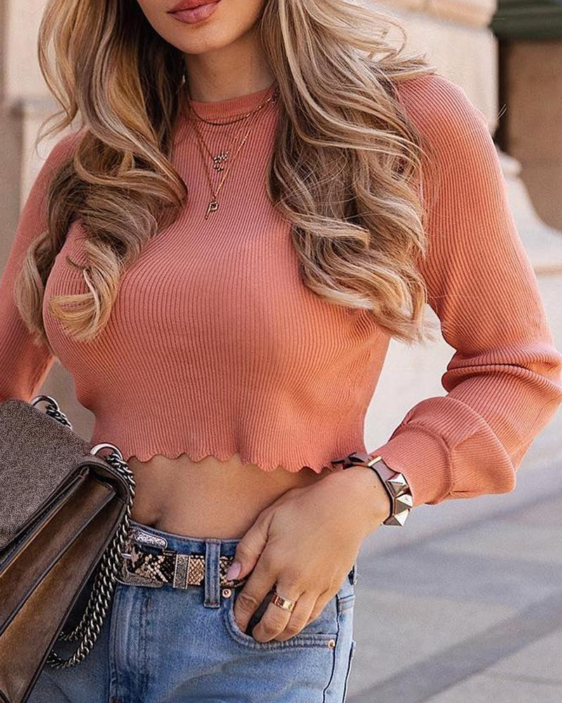 Fashion Women Sexy Long Sleeve Knitted Sweater Crop Tops Sweater Casual Pullover Jumper O-neck Slim OL Fall Autumn Shirt Blouse