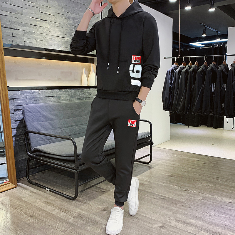 Teenager Sports Set Men's Spring And Autumn Clothes Set Spring Set Korean-style Students Autumn Set Casual Sweatshirt