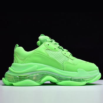 Triple S Sneakers Women Platform Shoes Trainers Runner Men Breathable Designer Dad Shoes Chunky Sneakers Clear Air Cushion Shoes