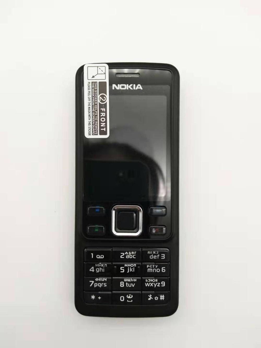 Горячая Распродажа~ разблокированный мобильный телефон Nokia 6300 разблокированный 6300 FM MP3 Bluetooth мобильный телефон один год гарантии - Цвет: Черный
