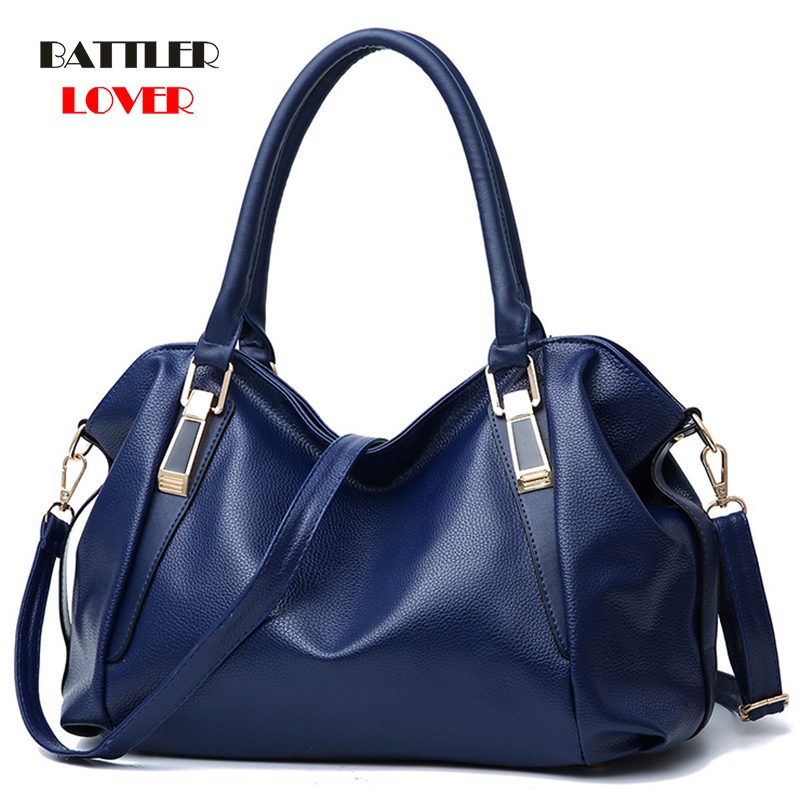 Women Shoulder Bags Solid Top-Handle Handbag Ladies Pu Leather Tote Women