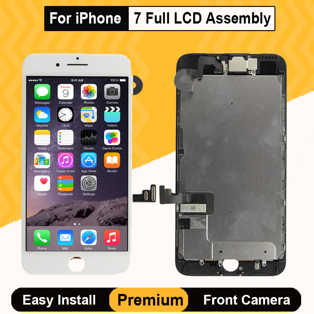 Grade AAA Full Set Display Digitizer 3D Touch Screen Replacement for iPhone 7 LCD Full Assembly 3D Touch Screen Digitizer <font><b>A1778</b></font> image