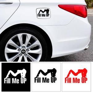 Decal Decoration Car-Stickers Pull-Fuel-The-Tank-Cover Auto-Products Help Fill Me-Up