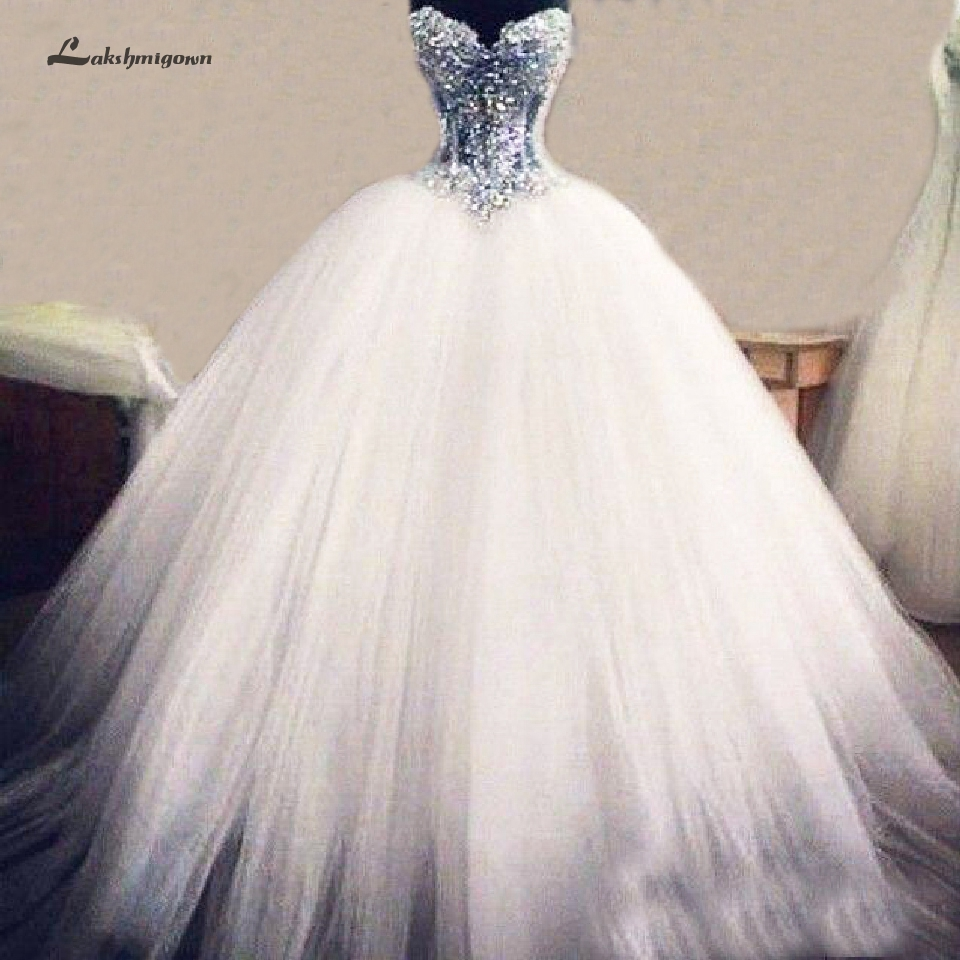 Lakshmigown Sheer Illusion Sexy African Wedding Gowns Off Shoulder Vestido Novia 2019 Luxury Bridal Dress Corset Lace Up Back