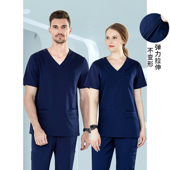 Washing clothes operating room female suit short-sleeved oral surgeon brush hands wear elastic overalls