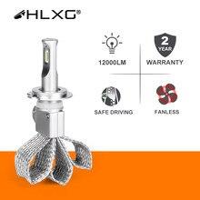 H11 led h8 h4 h7 h1 hb4 hb3 9005 9006 lâmpada do farol da motocicleta lâmpadas fanless carro auto nevoeiro luzes 12000lm nebbia csp 6000k hlxg