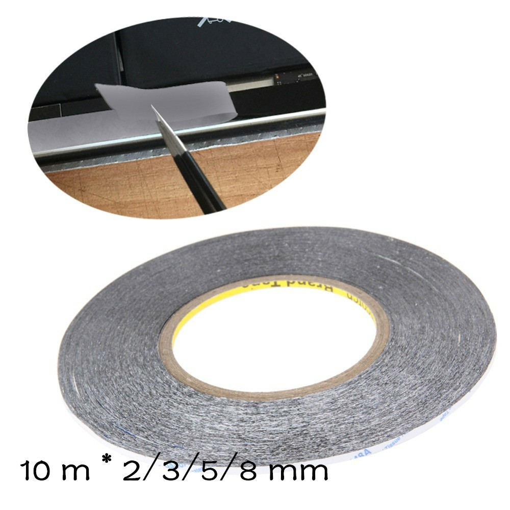 10M 2/3/5/8mm Adhesive Tape Double Sided Sticker for Phone LCD Pannel Display Screen Repair Housing Tool Hardware Repair Tape