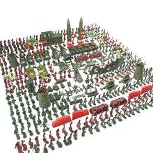 Conjunto de 519 Uds. Militares para niños y niñas de soldados, Set de juguetes para regalo de cumpleaños, Navidad y Año Nuevo