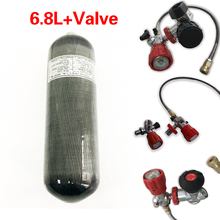 AC168 Acecare Scuba 6.8L 4500Psi Carbon Fiber Gas Cylinder For Diving PCP Airgun Air Rifle Airforce Condor Valve Filling Station