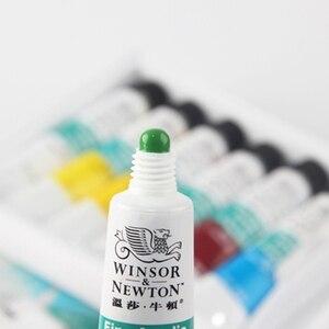 Image 4 - Winsor & newton conjunto de pinturas artesanais, pinturas profissionais de acrílico de 10ml, 12/18/24 cores, tecido, coloridas com brilho pigmentos