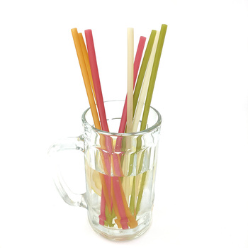Biodegradable Rice Straws - 100% Natural Organic Eco Friendly Disposable Drinking Straws - Perfect Alternative to Plastic, Paper image