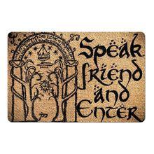 Придверный коврик с надписью «Talk Friend», 18x30 дюймов