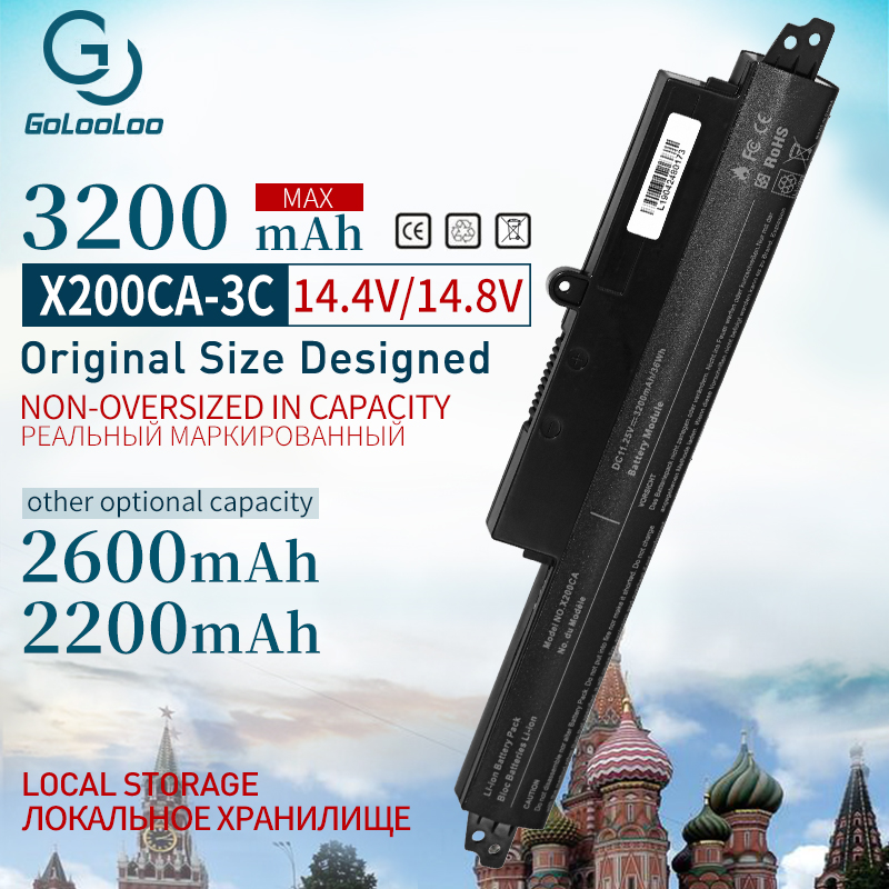 Golooloo 11.1V Laptop Battery For ASUS X200M X200LA A31LMH2 X200CA X200MA  A31N1302 A31N1302 A31LM9H For VivoBook R202CA X200MA