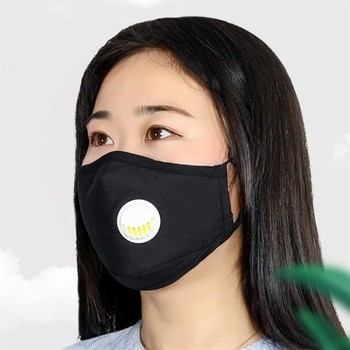 1/3/5pcs Comfortable Adjustable Earloop Breathing Mask Protective Anti Dust proof flu Mouth Mask Respirator Fashion Black Mask