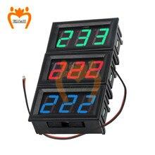 Переменный ток 70-500 В 0,56% 22 светодиод цифровой вольтметр напряжение метр вольт инструмент инструмент 2 провода красный зеленый синий дисплей 110 В 220 В DIY 0,56 дюйм
