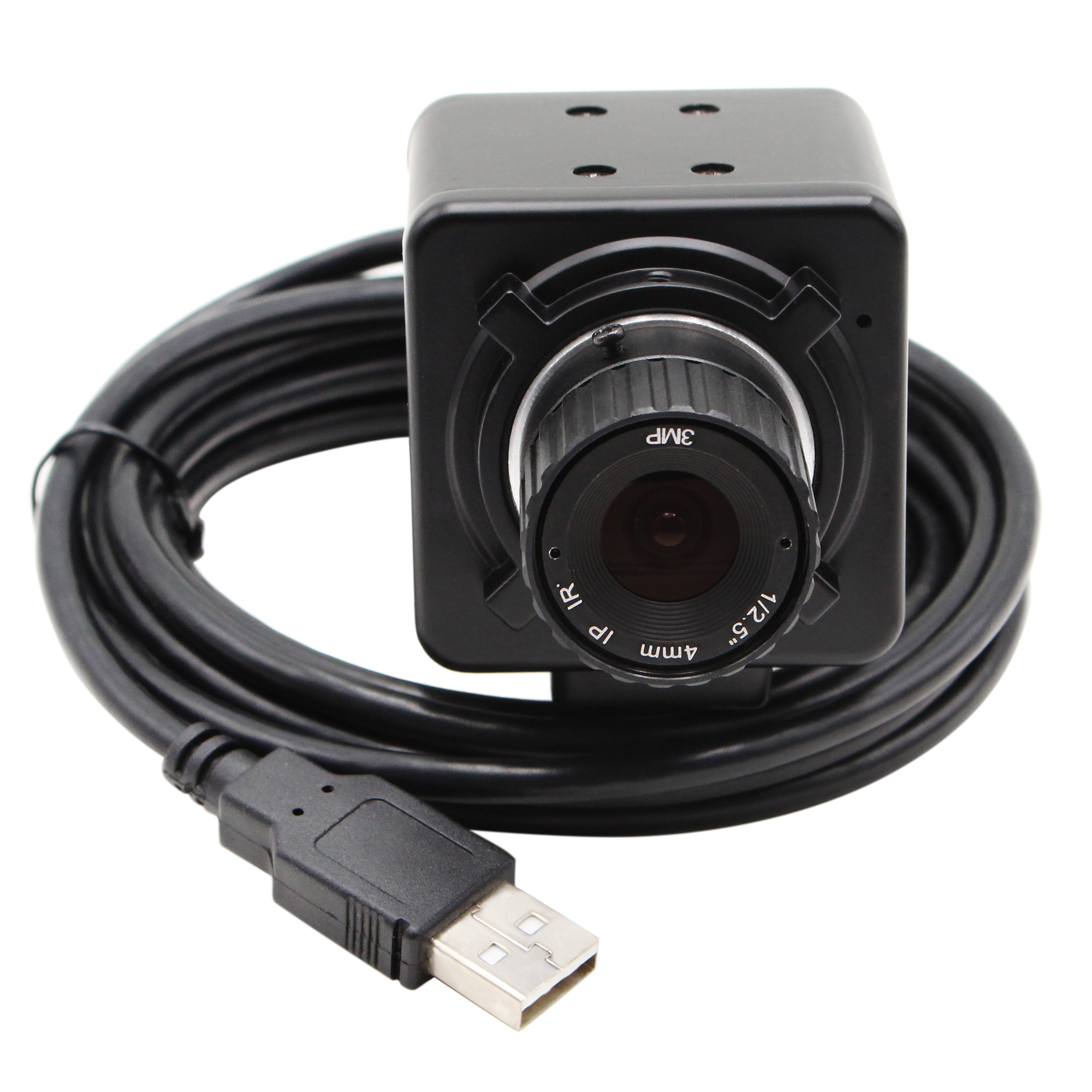 720P Global Shutter Monochrome Black White USB Webcam  MJPEG 60fps High Speed USB Camera With CS Lens