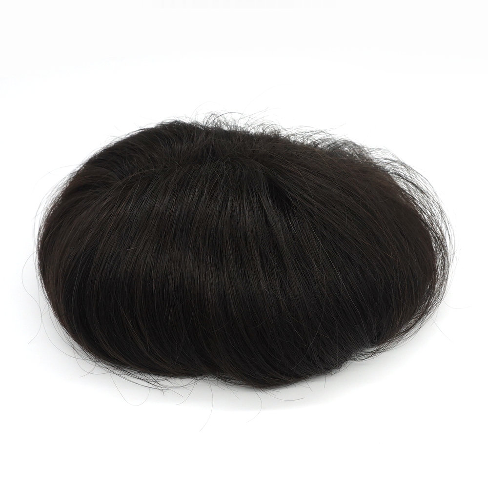 Hstonir Disposable Super Thin Skin Toupee For Men Human Hair Piece Indian Remy Hair H078