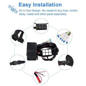 Image 4 - 6 갱 스위치 패널 전자 릴레이 시스템 회로 제어 상자 방수 퓨즈 릴레이 상자 자동차 자동 배선 하네스 어셈블리