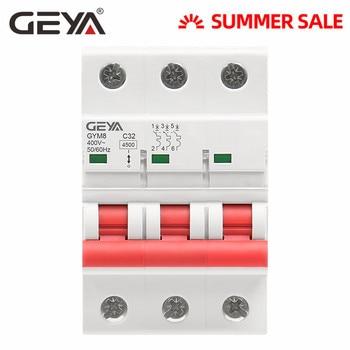 GEYA GYM8 3P na szynę Din MCB 6A 10A 16A 20A 25A 32A 40A 50A 63A 220V Mini wyłącznik instalacyjny krzywej C z certyfikatem CE CB jürgen schott gmbh certyfikat